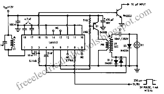 ultrasonic measurement circuit using electrostatic