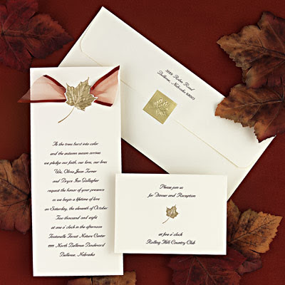 A wedding invitation must first and foremost reflect your wedding theme