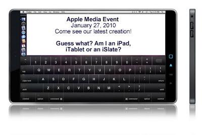 Apple iTablet, iSlate, or iPad