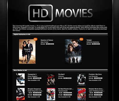 Apple announces the availability of HD movies on iTunes Store