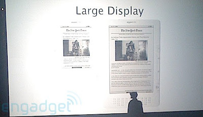 Amazon Kindle DX previewed to feature 9.7 inch display