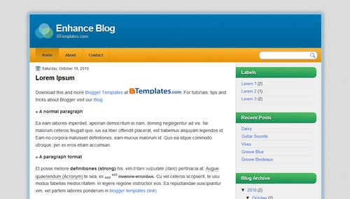 Free Blogger Templates Download: Enhance Blog