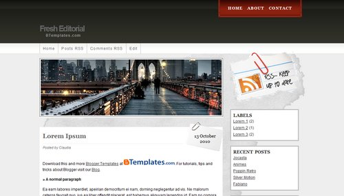 Free Blogger Templates Download: Fresh Editorial