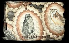 ~Vintage Owl Tags~