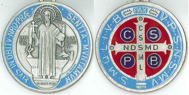 El santo de hoy...Benito, Santo  Medalla+de+San+Benito