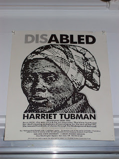 Disability Etching Poster of Harriet Tubman