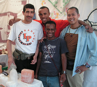 Nam LaMore with artisans at Zagora craft-fair, 2007