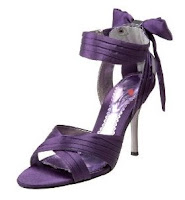 purple strappy shoe with high heels