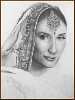 Drawing of Madhuri Dixit