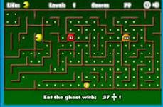 Saudades dos jogos antigos? Versão matemática do PAC MAN!