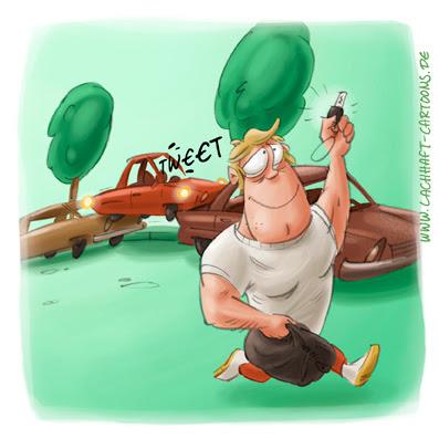LACHHAFT Cartoon Einparkhilfe Auto einparken Bodybuilder Muskelprotz Parklücke Parkplatz Straße Fitnessstudio Bodybuilding Cartoons Witze witzig witzige lustige Bildwitze Bilderwitze Comic Zeichnungen lustig Karikatur Karikaturen Illustrationen Michael Mantel Spaß Humor