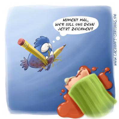 LACHHAFT Cartoon Piranhas Zeichner Arm ab verfressen Stift Bleistift Cartoonist Stumpf Cartoons Witze witzig witzige lustige Bildwitze Bilderwitze Comic Zeichnungen lustig Karikatur Karikaturen Illustrationen Michael Mantel Spaß Humor