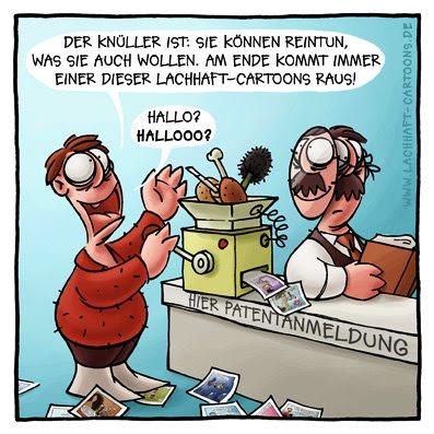Erfinder Patentamt Erfindung Maschine Beamter Umwandlung Verwandlung Cartoon Cartoons Witze witzig witzige lustige Bildwitze Bilderwitze Comic Zeichnungen lustig Karikatur Karikaturen Illustrationen Michael Mantel lachhaft Spaß Humor