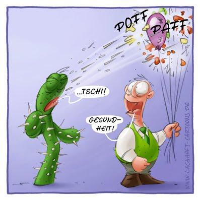 Kaktus niesen niessen Gesundheit hatschi Schnupfen krank Luftballons platzen Jahrmarkt Missgeschick kaputt Cartoon Cartoons Witze witzig witzige lustige Bildwitze Bilderwitze Comic Zeichnungen lustig Karikatur Karikaturen Illustrationen Michael Mantel lachhaft Spaß Humor