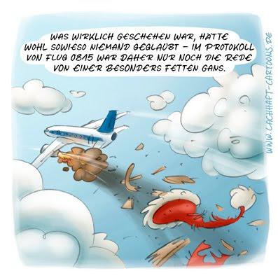 LACHHAFT Cartoon Weihnachten Weihnachtscartoon Weihnachtsmann Flug 0815 Flugzeug Turbine Katastrophe Absturz Unglück  Cartoons Witze witzig witzige lustige Bildwitze Bilderwitze Comic Zeichnungen lustig Karikatur Karikaturen Illustrationen Michael Mantel Spaß Humor