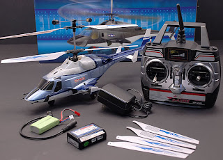 Walkera Blue Airwolf RC Helicopter Complete Images