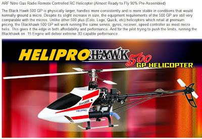 Black Hawk 500 GP Gas RC Helicopter Images