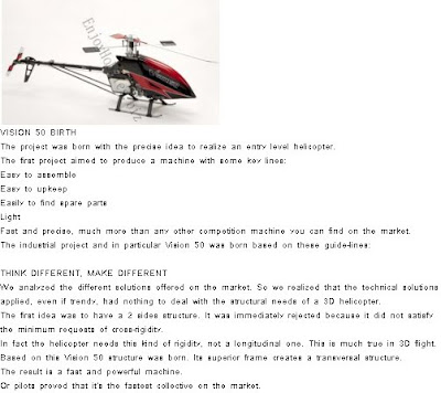 Vision 50 Nitro Gas RC Helicopter Kit Images