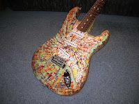 Fender Stratocaster Splatter Rainbow