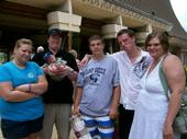 Bry with mommy, daddy, and unlce kyle, uncle McCray, and aunt Jessi