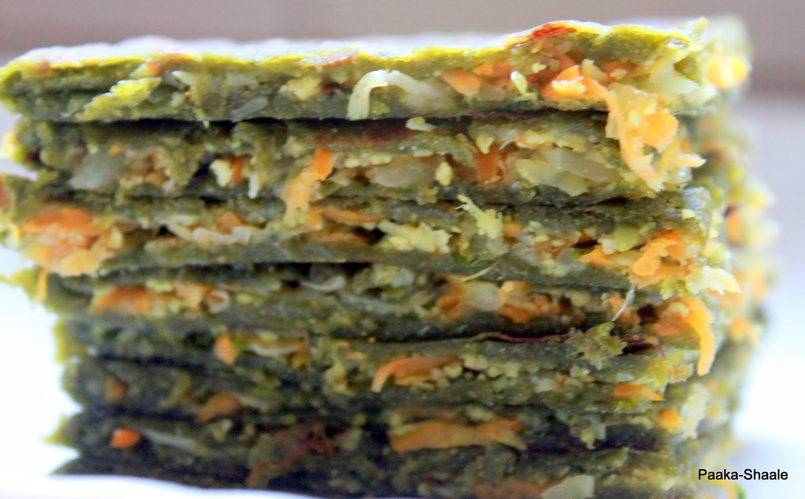 Paaka-Shaale: Spinach, paneer and vegetable paratha