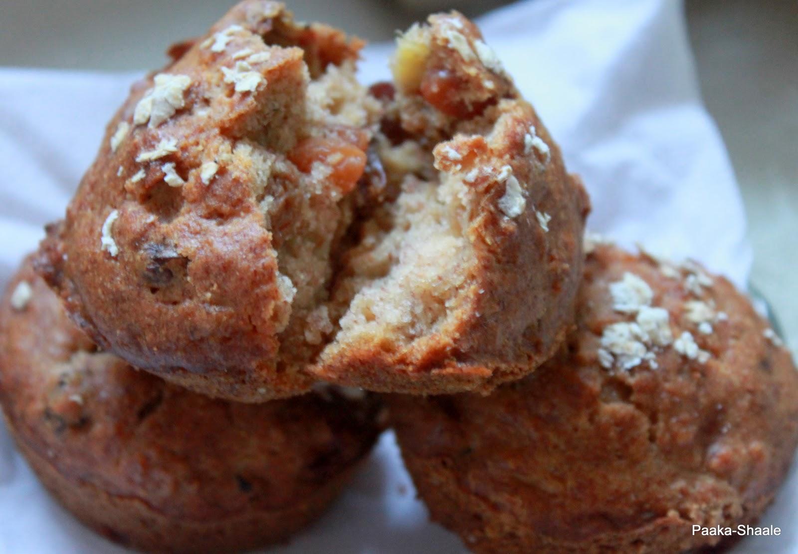 Paaka-Shaale: Eggless oatmeal, banana, raisin muffin