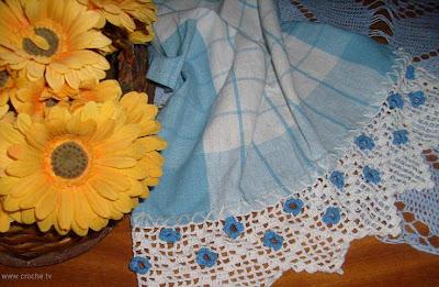 barradinho de croche com flores