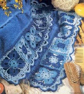 barrinha de crochet para toalha