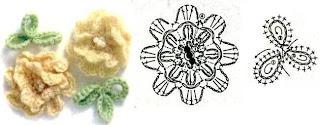 flor pequena de crochet