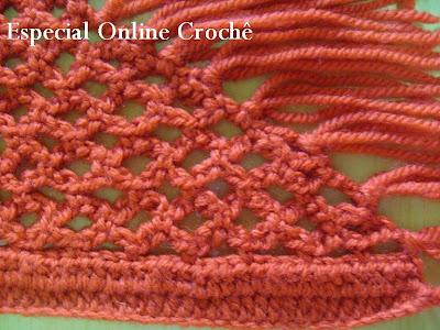 receita de xale de crochet