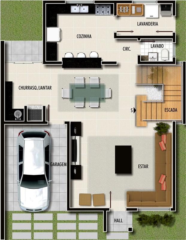 plantas de casas pequenas modernas