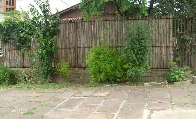 cerca para jardim de bambu:Lar Criativo: Cerca de Bambu para Jardim