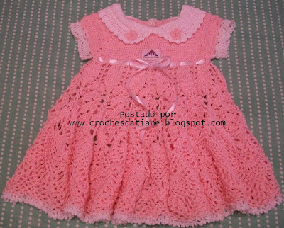 vestido de croche para bebe