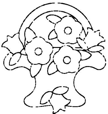 molde de flores para pintar no tecido