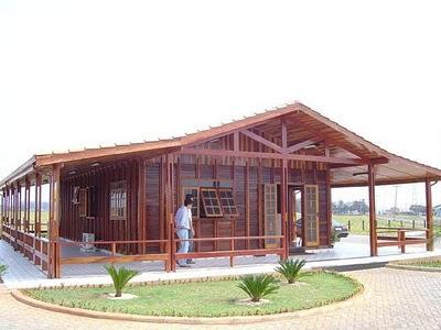 casas de madeira fotos
