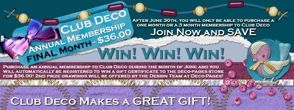 Club Deco Annual Membership