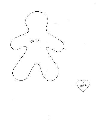 cupcake cutie: Free Christmas felt ornament pattern - Gingerbread man