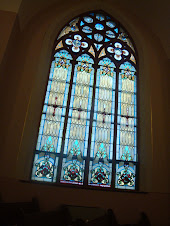 Beautiful stained glass windows in Church