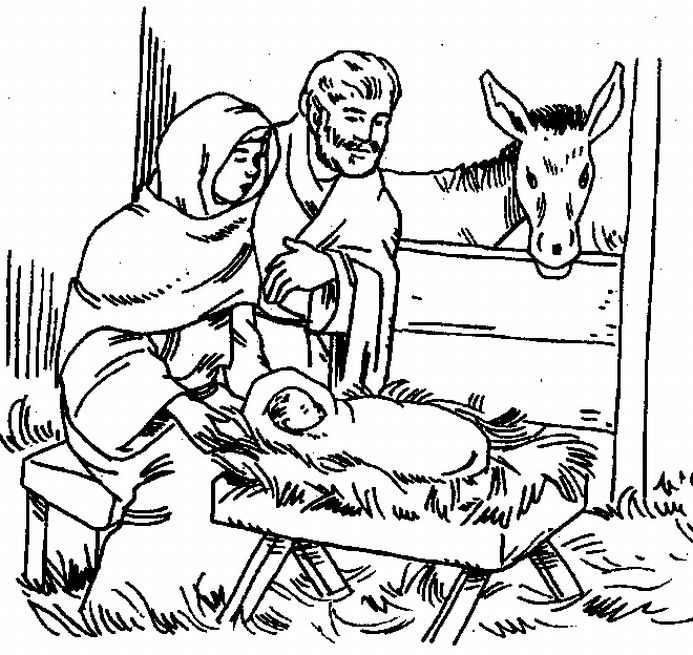 Peace love jesus and coffee december 2010 for Jesus in the manger coloring page
