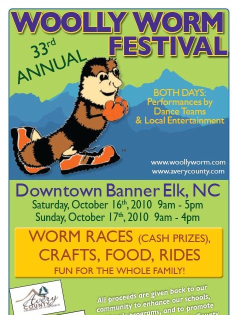 Beech Mountain Nc Vacation Wooly Worm Festival Banner