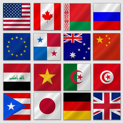 коллекция флагов