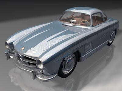 3D Cars Models - Mercedes 300SL