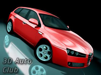 3D Cars Models - Alfa Romeo 159