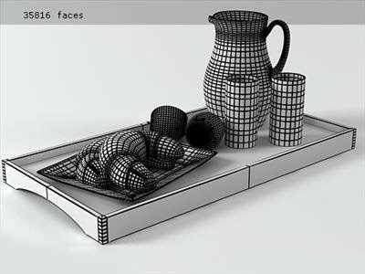 3D Model - Breakfast Set