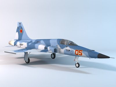 3D Model - F-5E Tiger II Red 05