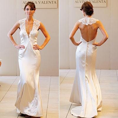 Alvina Valenta open back gown
