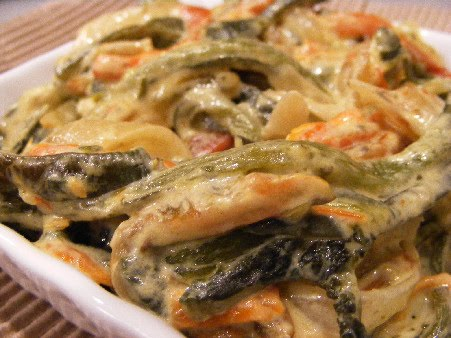 Rajas Poblanas Recipe — Dishmaps