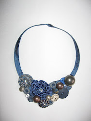 colier/ fabrick necklace (pret: 50 lei/ price: 15 EUR / $ 21)