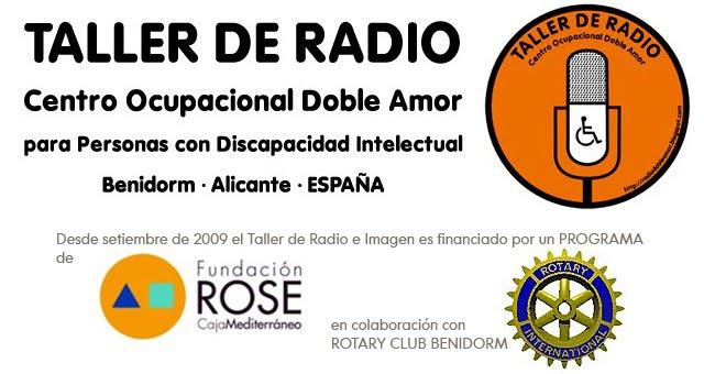 Taller de Radio del Centro DOBLE AMOR de Benidorm para personas con discapacidad intelectual.