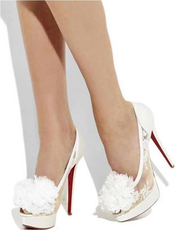 women 39 s high heel shoes christian louboutin tsar 140 high heel satin bridal designer shoes. Black Bedroom Furniture Sets. Home Design Ideas
